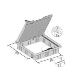 IKDV16.257 Лючок напольный на 12 модулей 45*45мм с крышкой 16 мм(VERGOKAN), СТАЛЬ