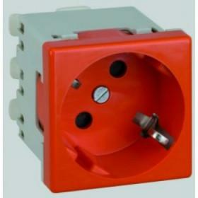 K01-6 Розетка 2к+з винтовой зажим, 45х45 мм Simon Connect K45, красный