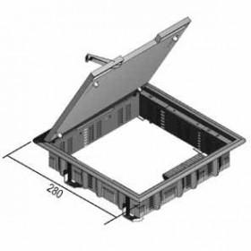 KDVV5.257-7011 Лючок напольный на 12 модулей 45*45мм для фаль-полов(VERGOKAN), СЕРЫЙ