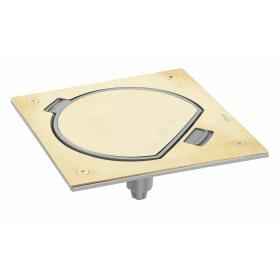 KSE0-23-71 Лючок напольный на 1 механизм 45*45мм на щеколде IP66, Латунь