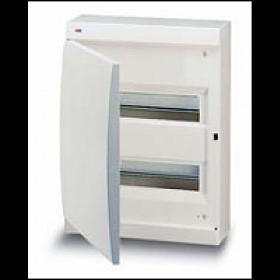 122440008 Бокс навесной 2*12 модулей(Unibox) с белой дверью IP41 с клеммным блоком