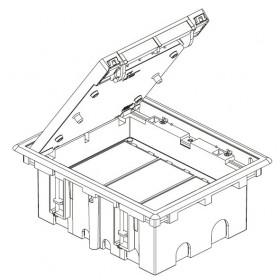 SF310-14 Лючок Simon для фальш-полов на 6 механизмов черный