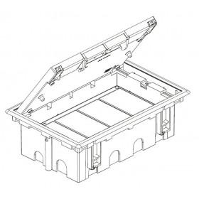 SF610-1 Лючок для фальш-полов на 12 механизмов, СЕРЫЙ