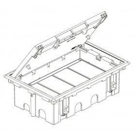 SF670-14 Лючок Simon для бетонных полов на 12 механизмов черный