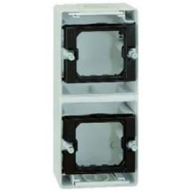 4400763-035 Коробка наружного монтажа 2-ая Simon 44 Aqua Серый IP55