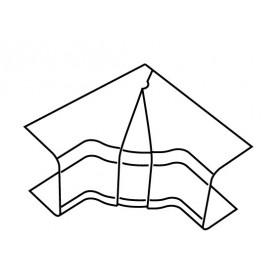 576111  Угол внутренний RIA 100x55 изменяемый с задней стенкой и разделителем для коробов ARC-LAN