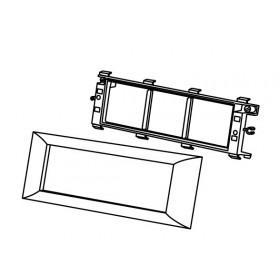 573916 Суппорт PMA-45/6 для 3-х механизмов 45х45 мм для коробов серии  ARC-LAN, Белый