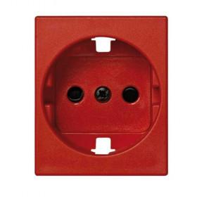 82041-57 Накладка розетки электрической со шторками Simon 82 Centralization Красный