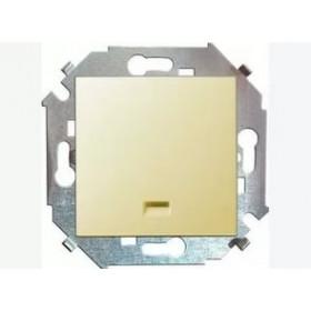 Выключатель Simon 15 Слоновая кость 1591104-031 IP20 одноклавишный с подсветкой