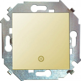 Нажимная кнопка Simon 15 Слоновая кость 1591150-031 IP20 с пиктограммой
