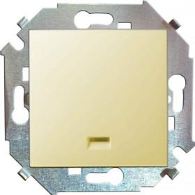 Нажимная кнопка Simon 15 Слоновая кость 1591160-031 IP20 с подсветкой