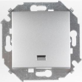 Кнопка Simon 15 с подсветкой алюминий 1591160-033