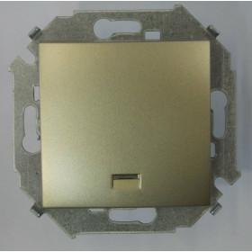 Кнопка Simon 15 с подсветкой шампань 1591160-034