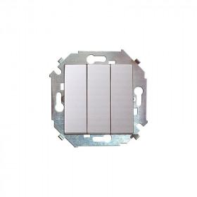 Выключатель Simon 15 Белый 1591391-030 IP20 трехклавишный