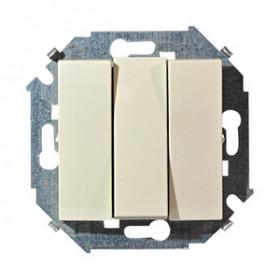 Выключатель Simon 15 Слоновая кость 1591391-031 IP20 трехклавишный