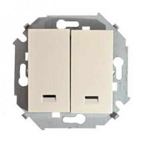 Выключатель Simon 15 Слоновая кость 1591392-031 IP20 двухклавишный с подсветкой