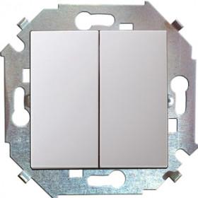 Выключатель Simon 15 Белый 1591397-030 IP20 двухклавишный с 2-х мест