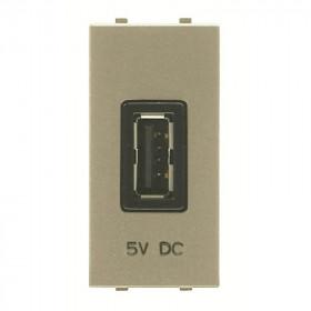 N2185 CV Розетка USB-зарядка 1 модуль ABB Zenit Niessen Шампань
