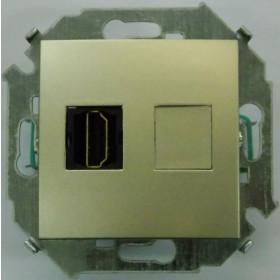 Розетка HDMI Simon 15 Шампань 1591407-034