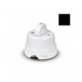 Выключатель Fede Fanton Country Черный 84001BK IP20 с 2-х мест