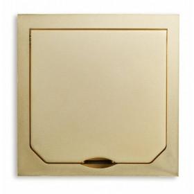1471AUM Крышка лючка BOWA 94*94 мм на 1 розетку, Золото
