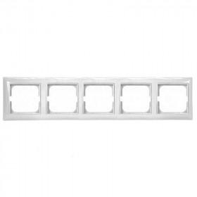 Рамка 5-ая ABB Basic 55 Chalet-Белый 1725-0-1515 IP20