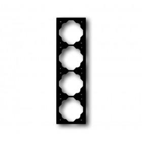 Рамка 4-ая ABB Impuls Черный бархат 1754-0-4427 IP20