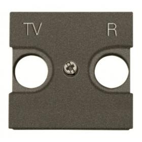 N2250.8 AN Накладка розетки телевизионной TV-R 2 модуля ABB Zenit Niessen Антрацит