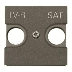 N2250.1 AN Накладка розетки телевизионной TV-R/SAT 2 модуля ABB Zenit Niessen Антрацит