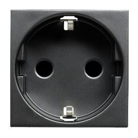 N2288 AN Розетка электрическая со шторками ABB Zenit Niessen Антрацит