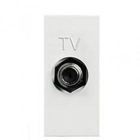 Розетка ABB Zenit Niessen Белый N2150 BL IP20 TV Одиночная