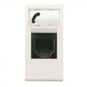 N2117.6 BL Розетка телефонная RJ12 1 модуль ABB Zenit Niessen Белый