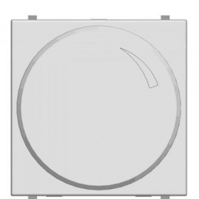 Диммер ABB Zenit Niessen Белый N2260.2 BL поворотный 60-500 W универсальный 2 модуля