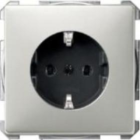 Розетка Merten System Design Сталь MTN2301-4146 IP20