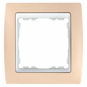 82611-31 Рамка 1-ая серия Simon 82, Пастель  кремовая-Белый