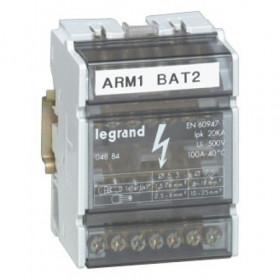 4886 Блок распределительный(кросс-модуль) на DIN-рейку и монтажную плату 4полюса 125A, 11 контактов