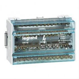 4888 Блок распределительный(кросс-модуль) на DIN-рейку и монтажную плату 4 полюса 125A, 15 контактов