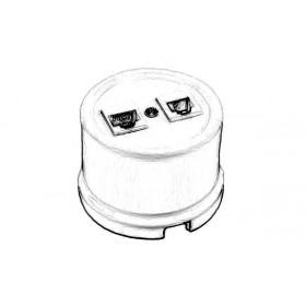 Розетка Bironi Лизетта Черный мрамор В1-301-01/BM IP20 RJ 11