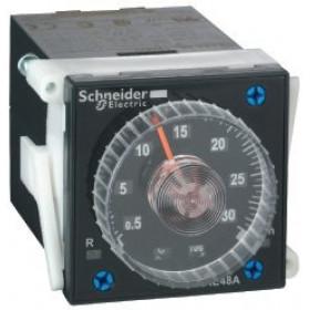 RE48AMH13MW Таймер аналоговый 48*48мм многофункциональный(A1,A2,H1,H2) ~/=24-240В, 2 релейных выхода