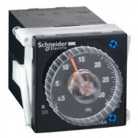 RE48ATM12MW Таймер аналоговый 48*48мм для частой подстройки ~/=24-240В с выдержкой на включение