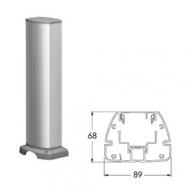 ISM20215 Мини-колонна 1-сторонняя 0,43 м на 6 мех-мов 45*45мм с отверстием(OptiLine 45), Алюминий