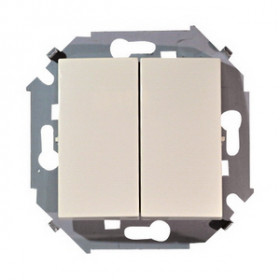 Выключатель Simon 15 Слоновая кость 1591397-031 IP20 двухклавишный с 2-х мест