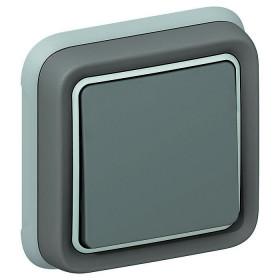69811 Выключатель IP55 одноклавишный с 2-х мест скрытой установки Legrand Plexo влагозащищенный Серый