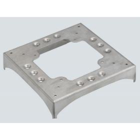KTA8229-8 Цоколь для напольного каналала с 2 перф. 85x18мм и 2 вырез. под 90град.130х18мм, Алюминий