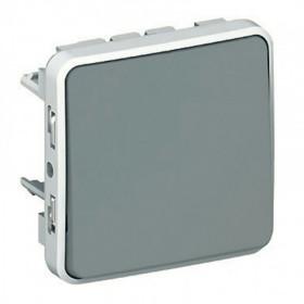69511 Выключатель влагозащищенный одноклавишный с 2-х мест проходной Legrand Plexo IP55 Серый