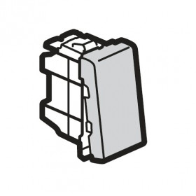 77201 Mosaic Выключатель с 2-х мест 1 модуль(45*22,5мм) 10АХ, АЛЮМИНИЙ