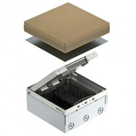 7427240 Лючок на 6 механизмов(UDHOME4 2V GB U) с 2-мя коробками GB2, Нержавеющая сталь