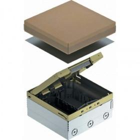 7427244  Лючок на 6 механизмов 45*45мм (UDHOME4 2M GB U) с 2-мя коробками GB2, Латунь