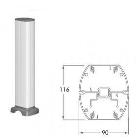 ISM20218 Мини-колонна 2-сторонняя 0,43 м на 12 мех-мов 45*45мм с отверстием(OptiLine 45), Белая