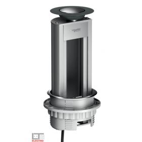 ISM20401 Выдвижной розеточный блок OptiLine 45 на 4 механизма 45*45 мм